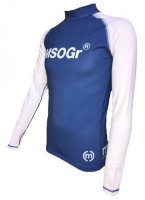 Musou gear long sleeve Rash guard #02 Blue/White