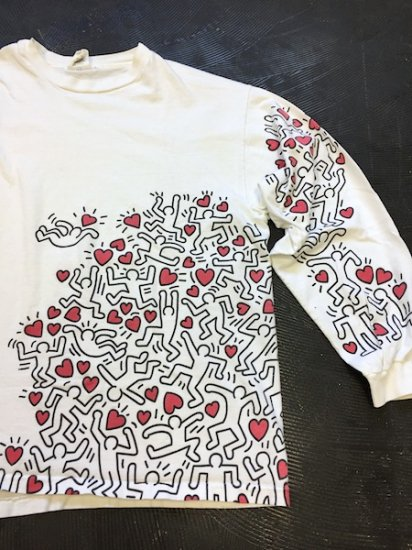 1990's〜 Keith Haring「MAN POWER」ロンT