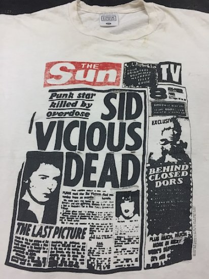 1990's〜 The Sun SID VICIOUS DEAD ジャンク !!!