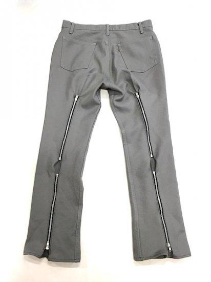 Levi's スタプレ Zip パンツ ライトグレー