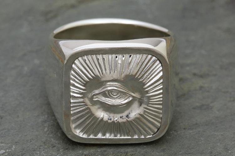 RADIATION RING all silver写真その1