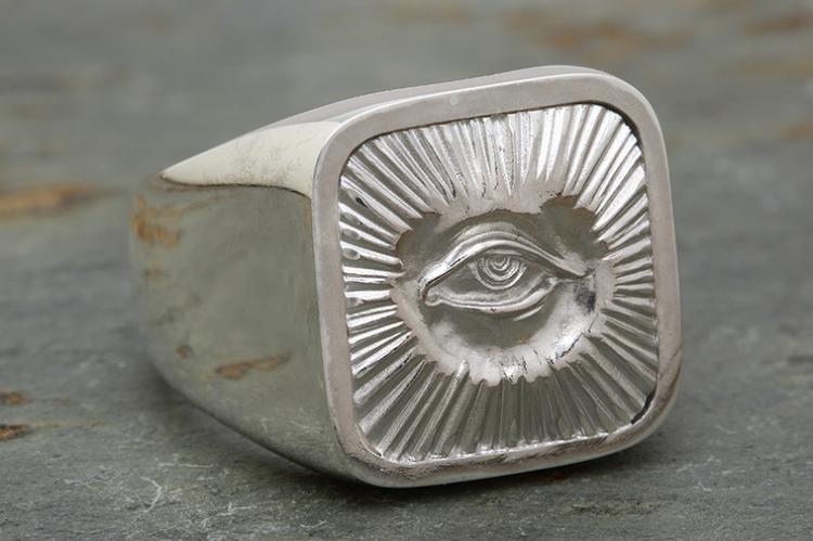 RADIATION RING all silver写真その3