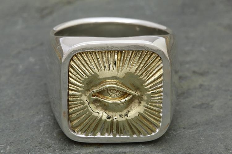 RADIATION RING silver x brass写真その1