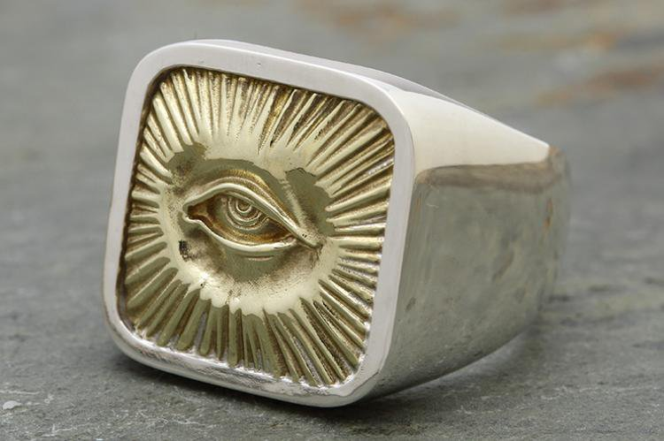RADIATION RING silver x brass写真その2