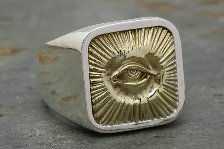 RADIATION RING silver x brass写真その3