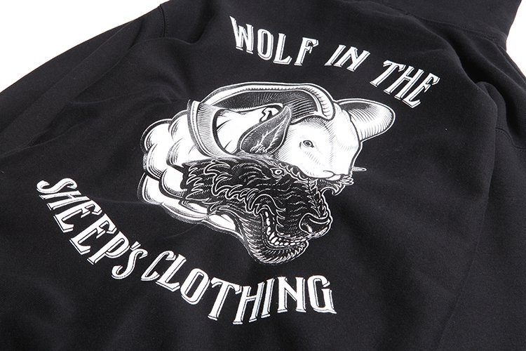 WOLF IN THE SHEEP'S CLOTHING 12oz SWEAT  ZIP  PARKA写真その3