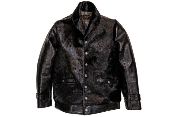 HORSE HAIR GRIZZLY JACKET -black-写真その1