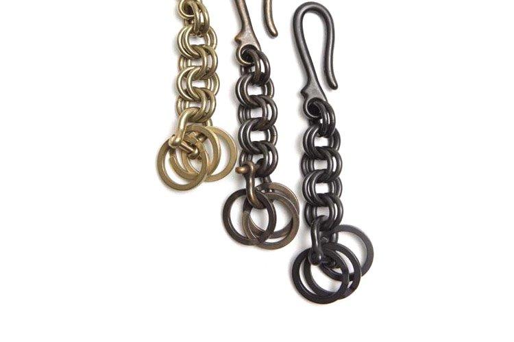 brass key chain circle写真その2
