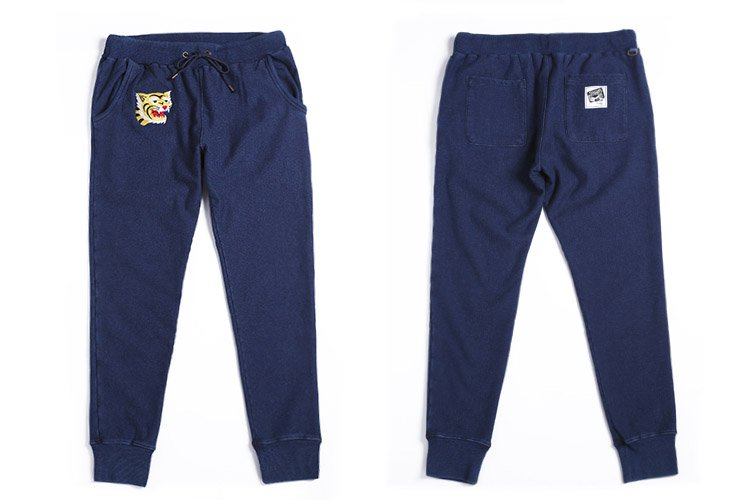 TIGER INDIGO SWEAT PANTS写真その1