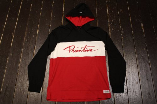 PRIMITIVE MARATHON LONGSLEEVE HOODED TEE BLACK