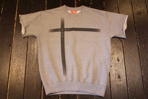 FLATLUX Kimmy Ss-Crewneck Sweatshirt heather gray