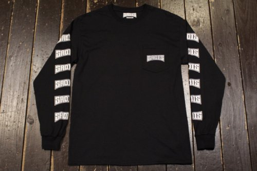 <img class='new_mark_img1' src='//img.shop-pro.jp/img/new/icons24.gif' style='border:none;display:inline;margin:0px;padding:0px;width:auto;' />SADIS LOGO POKET LONG SLEEVE BLACK