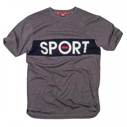 DGK SPORT S/S KNIT SPORT HEATHER
