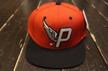 PRIMITIVE ALPHA P SNAPBACK RED