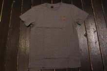 HUF CLASSIC H DIPPED CAMO TEE GRAY HEATHER