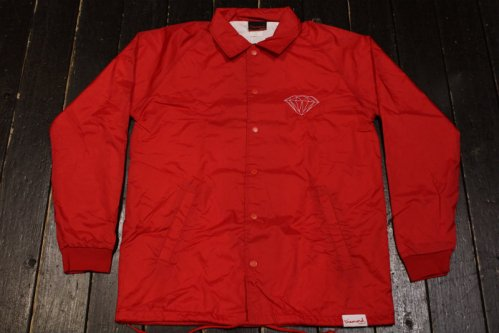 DIAMOND SUPPLY CO CRAFTSMAN COACH'S JACKET RED