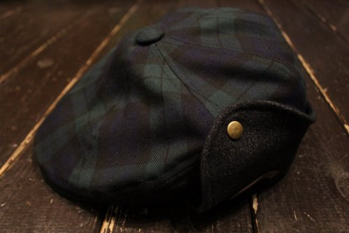 DL HEADWEAR Benjamin Flap Hunting - green tartan