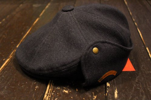 DL HEADWEAR Benjamin Flap Hunting - black wax denim
