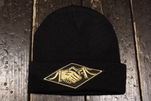 NIGHTMARE BEANIE EMBROIDERED LABEL BLACK