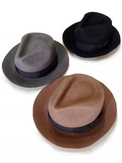 <img class='new_mark_img1' src='//img.shop-pro.jp/img/new/icons2.gif' style='border:none;display:inline;margin:0px;padding:0px;width:auto;' />DRY BONES Wool FEDORA HAT (BLACK,GRAY,CAMEL)