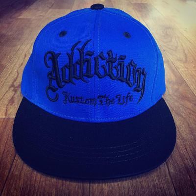 <img class='new_mark_img1' src='//img.shop-pro.jp/img/new/icons26.gif' style='border:none;display:inline;margin:0px;padding:0px;width:auto;' />Addiction kustom The Life SNAP BACK BB CAP BLUE