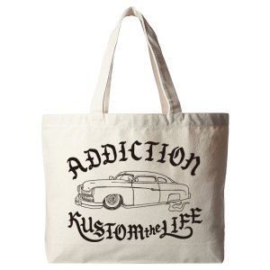 Addiction Kustom the life RTkustom MERCURY キャンバストートバッグ