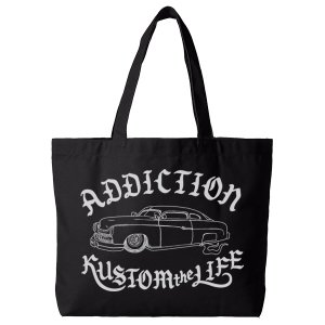 Addiction Kustom the life RTkustom MERCURY キャンバストートバッグ