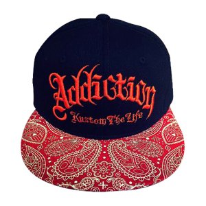 Addiction kustom The Life SNAP BACK BB CAP ペイスリー柄1