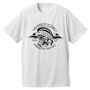 <img class='new_mark_img1' src='https://img.shop-pro.jp/img/new/icons33.gif' style='border:none;display:inline;margin:0px;padding:0px;width:auto;' />Addiction kustom the life FOR EVER ON THE ROAD Tee 再入荷!!