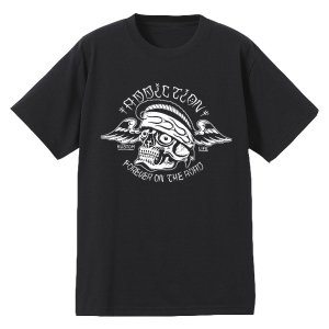 <img class='new_mark_img1' src='https://img.shop-pro.jp/img/new/icons53.gif' style='border:none;display:inline;margin:0px;padding:0px;width:auto;' />Addiction kustom the life FOR EVER ON THE ROAD Tee