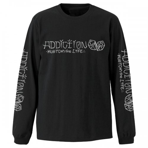 "Addiction kustom the life C/S DICE"" LONG SLEEVE TEE BK"