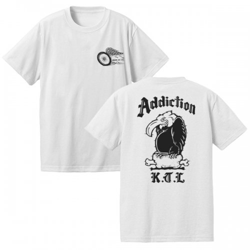 Addiction kustom the life / VULTURE Teeシャツ (WH) 予約受付中