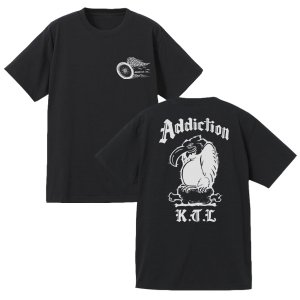 <img class='new_mark_img1' src='https://img.shop-pro.jp/img/new/icons14.gif' style='border:none;display:inline;margin:0px;padding:0px;width:auto;' />Addiction kustom the life / VULTURE Teeシャツ (BK)7月20日入荷予定!!