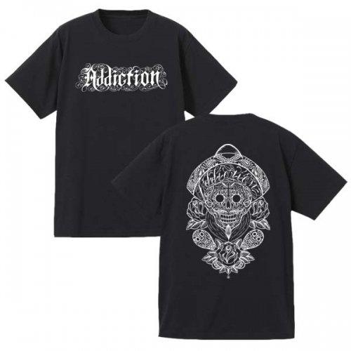 Addiction kustom the life / MEXICAN SKULL Teeシャツ (BK)予約受付中