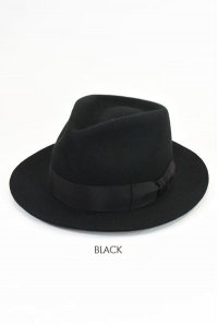 <img class='new_mark_img1' src='https://img.shop-pro.jp/img/new/icons14.gif' style='border:none;display:inline;margin:0px;padding:0px;width:auto;' />DRY BONES Wool FEDORA HAT BLACK  ドライボーンズ/ウールフェドラハット/ブラック