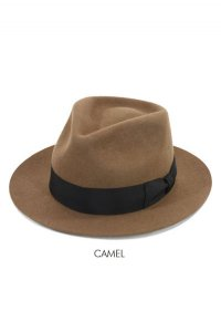 <img class='new_mark_img1' src='https://img.shop-pro.jp/img/new/icons2.gif' style='border:none;display:inline;margin:0px;padding:0px;width:auto;' />DRY BONES Wool FEDORA HAT CAMEL