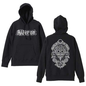 <img class='new_mark_img1' src='https://img.shop-pro.jp/img/new/icons24.gif' style='border:none;display:inline;margin:0px;padding:0px;width:auto;' />Addiction kustom the life / MEXICAN SKULL  HOODIE