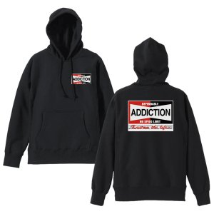 <img class='new_mark_img1' src='https://img.shop-pro.jp/img/new/icons14.gif' style='border:none;display:inline;margin:0px;padding:0px;width:auto;' />Addiction kustom the life / NO SPEED LIMIMT HOODIE BK