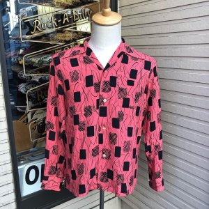 <img class='new_mark_img1' src='//img.shop-pro.jp/img/new/icons14.gif' style='border:none;display:inline;margin:0px;padding:0px;width:auto;' />The Groovin High Vintage Style 50sBox Shirt long Sleeves/グルーヴィン・ハイ/オープンカラー長袖シャツ/日本製