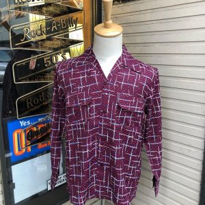 <img class='new_mark_img1' src='//img.shop-pro.jp/img/new/icons14.gif' style='border:none;display:inline;margin:0px;padding:0px;width:auto;' />THE GROOVIN HIGH 1950s vintage Style Shirt /グルーヴィン・ハイ/レーヨンオープンカラー長袖シャツ/日本製