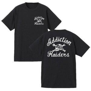 Addiction kustom the life Raiders Tee /アディクション/フロント&バック/プリントTシャツ/ブラック/