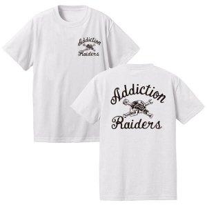 Addiction kustom the life Raiders Tee /アディクション/フロント&バック/プリントTシャツ/ホワイト/