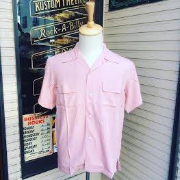 Addiction KUSTOM THE LIFE RAYON OPEN COLLAR SHIRTS PINK made in Japan/アディクション/レーヨンオープンカラー半袖シャツ /日本製