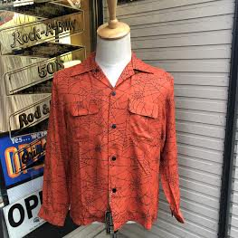 <img class='new_mark_img1' src='https://img.shop-pro.jp/img/new/icons14.gif' style='border:none;display:inline;margin:0px;padding:0px;width:auto;' />The Groovin Highvintage Vinage Style RayonShirt A305/グルーヴィン・ハイ/レーヨンオープンカラー長袖シャツ/日本製