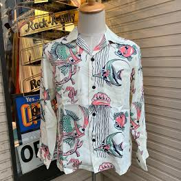 <img class='new_mark_img1' src='https://img.shop-pro.jp/img/new/icons14.gif' style='border:none;display:inline;margin:0px;padding:0px;width:auto;' />The Groovin Highvintage Vinage Style RayonShirt A280/グルーヴィン・ハイ/レーヨンオープンカラー長袖シャツ/日本製