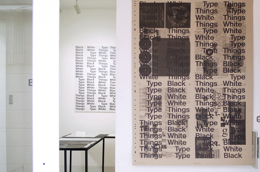 Bernd Kuchenbeiser Black White Type Things at print gallery Tokyo