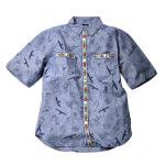 Wild Things(ワイルドシングス) CLIMBER PRINT CHAMBRAY SHIRT(NAVY PRINT)<img class='new_mark_img2' src='//img.shop-pro.jp/img/new/icons49.gif' style='border:none;display:inline;margin:0px;padding:0px;width:auto;' />