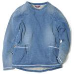 Kelen(ケレン) JERSEYDENIM BIG POCKET PULLOVER 'SHIRLEY' (INDIGO)