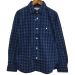 ORDINARY FITS(オーディナリーフィッツ) [Unisex] INVISIBLE B/D SHIRTS indigo check (BIG CHECK)