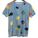 Bohemians(ボヘミアンズ) [Unisex] S/S TEE WRAPPING FRUIT (SAX)